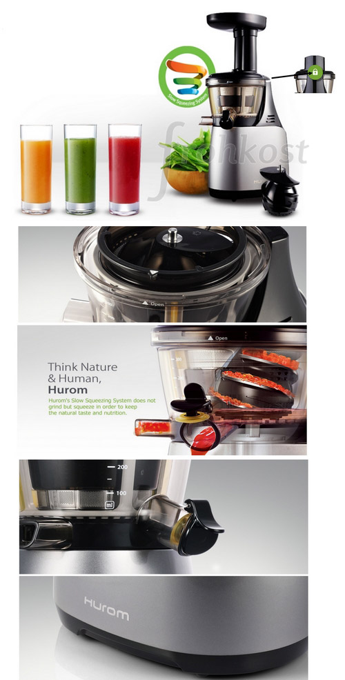 Hurom Slow Juicer Red He 500 : Hurom HE-500 Slow Juicer